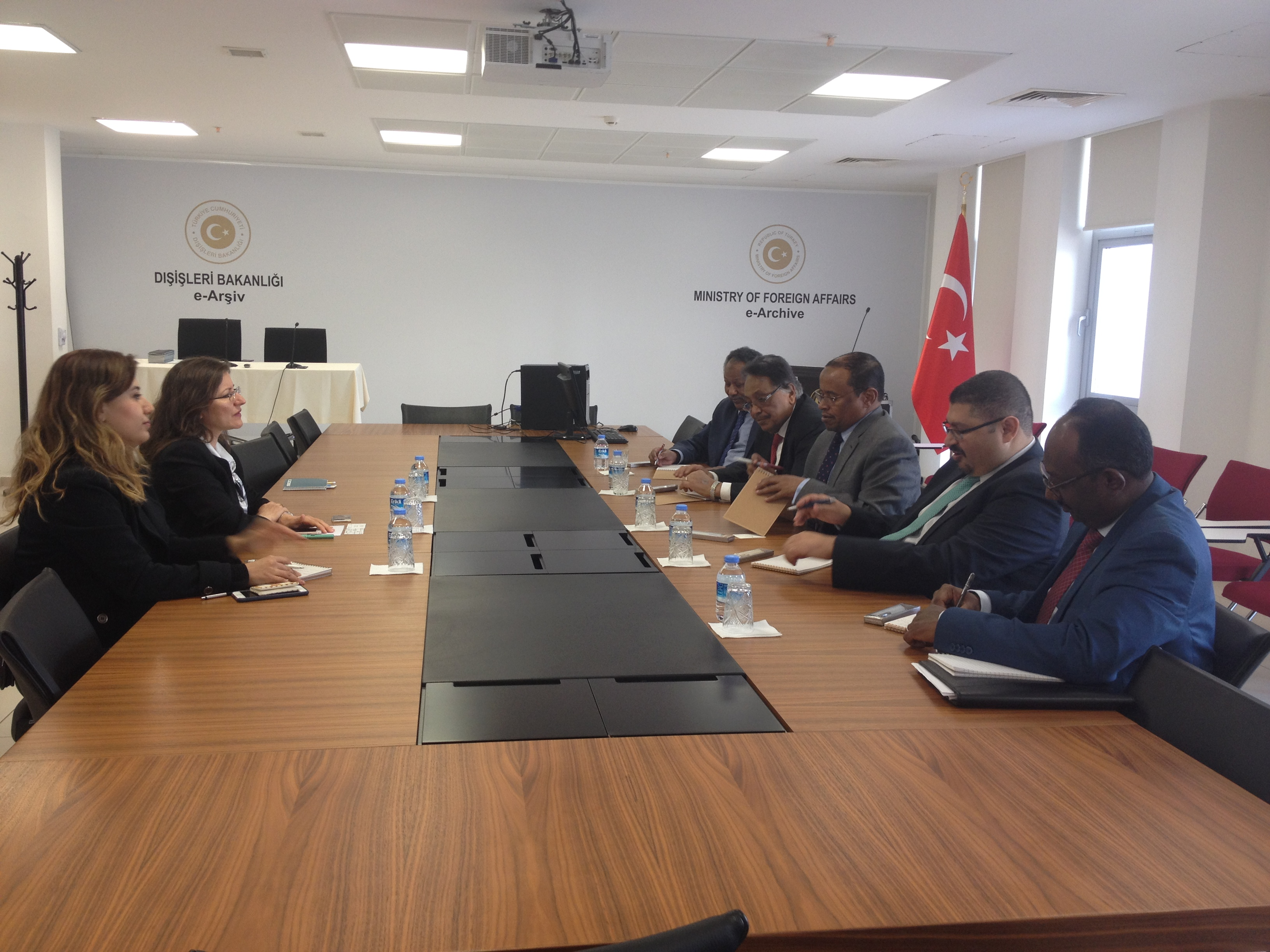 At The Meeting Ideas Were Exchanged As To Ways By Which Turkish Sudanese Diplomatic Training Cooperation Could Be Improved Through Tangible Projects